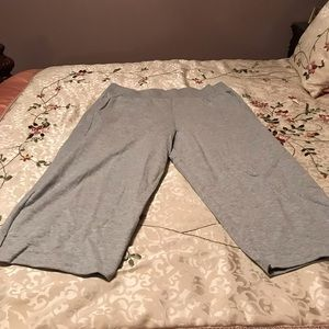 PM11086 Elastic Waist Exercise Pants With Pockets